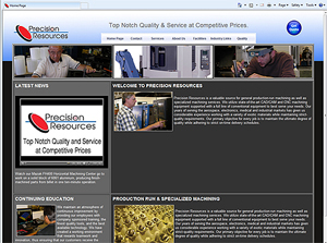 Precision Resources Home Page